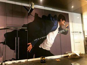 Lacoste - Hoarding - Pitt St Sydney